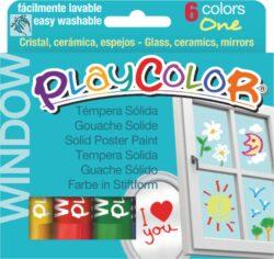 Playcolor  window  6ks-TUHÉ TEMPEROVÉ BARVY NA SKLO