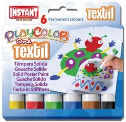Playcolor  na textil 6ks-TUHÉ TEMPEROVÉ BARVY NA TEXTIL