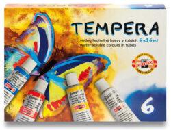 barvy temperové  6 ks-barvy temperové 6 x 16 ml