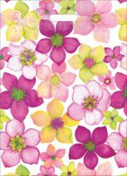 taška 50 x 35 květy zahrady-PRODEJ POUZE PO BALENÍ !!