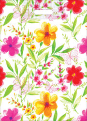 taška 50 x 35 květiny s motýlem-PRODEJ POUZE PO BALENÍ !!