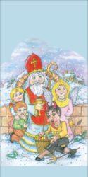 sáček 40 x 20 čirý Mikuláš, čert, anděl a děti-PRODEJ POUZE PO BALENÍ!!