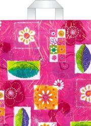 taška 45 x 40 s uchy květinová fantazie-PRODEJ POUZE PO BALENÍ !!