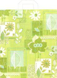 taška 45 x 40 s uchy květinová inspirace-PRODEJ POUZE PO BALENÍ !!