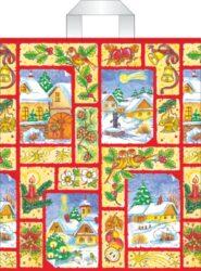 taška  vánoční s uchy 46 x 39 vánoční kouzlo-PRODEJ POUZE PO BALENÍ