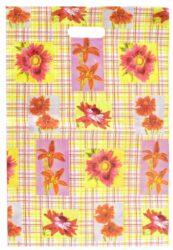 taška 50 x 35 květinové káro-PRODEJ POUZE PO BALENÍ !!