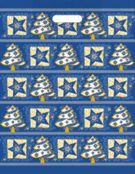 taška  vánoční 46 x 35 modrá fantazie-PRODEJ POUZE PO BALENÍ!!
