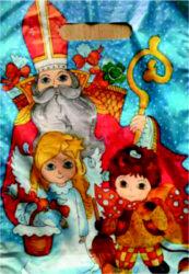 taška mikulášská 34 x 24 Mikuláš, čert a anděl-PRODEJ POUZE PO BALENÍ