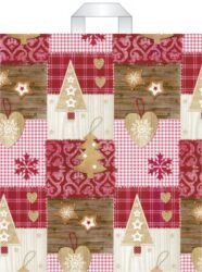 taška  vánoční s uchy 46 x 39 vánoční dekorace-PRODEJ POUZE PO BALENÍ