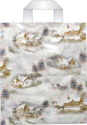 taška  vánoční s uchy 46 x 39 zimní inspirace-PRODEJ POUZE PO BALENÍ