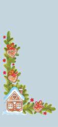 sáček 40 x 20 čirý vánoční perníčky-PRODEJ POUZE PO BALENÍ