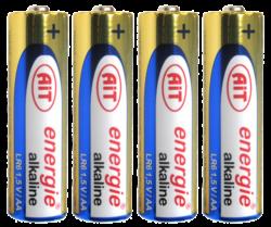 baterie AIT LR03 AAA alkalická 4ks - 189