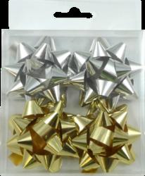 rozeta  střední metal 6cm zlatá + stříbrná 4ks-PRODEJ POUZE PO BALENÍ