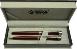 kuličkové pero + roller Katherine - červená-psací souprava Regal
