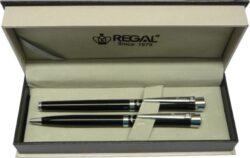 kuličkové pero + roller Katherine - černá-psací souprava Regal