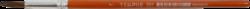 štětec Tempus kulatý lak  7-vlas pony, krátká oranžově lakovaná násadka