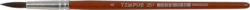 štětec Tempus kulatý lak  8-vlas pony, krátká oranžově lakovaná násadka