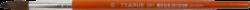 štětec Tempus kulatý lak 10-vlas pony, krátká oranžově lakovaná násadka