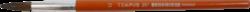 štětec Tempus kulatý lak 12-vlas pony, krátká oranžově lakovaná násadka