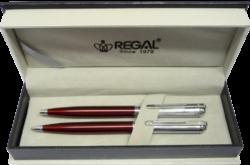 kuličkové pero + mikrotužka Harmonia - červená-psací souprava Regal