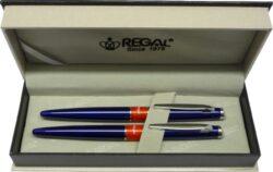 kuličkové pero + roller Mercurius - modrá-psací souprava Regal