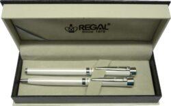 kuličkové pero + inkoustové pero Katherine - bílá-psací souprava Regal