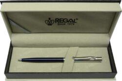 kuličkové pero Lane - modrá-psací souprava Regal