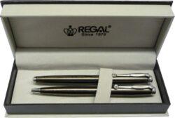kuličkové pero + roller Hadrian - šedá-psací souprava Regal