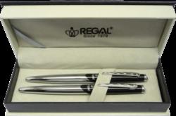 kuličkové pero + inkoustové pero Themis - černá-psací souprava Regal