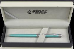 kuličkové pero Lane - tyrkysová-psací souprava Regal