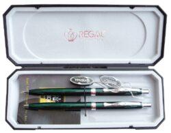 kuličkové pero + mikrotužka Reef - zelené-psací souprava Regal