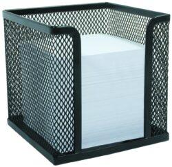 stojánek drátěný na papírky Europen černý-rozměr 9,5 x 9,5 prodej bez papírků