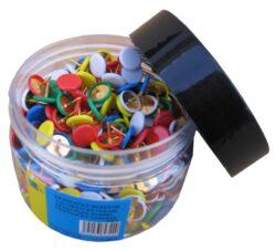 připínáčky 350ks Europen barevné potahované*