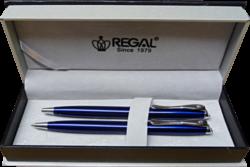 kuličkové pero + mikrotužka Arachne - modrá-psací souprava Regal