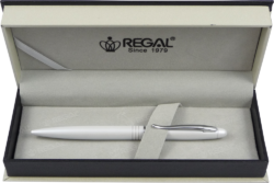 kuličkové pero  Alice - bílá-psací souprava Regal