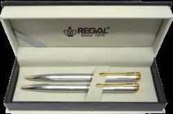kuličkové pero + mikrotužka Harmonia - stříbrná-psací souprava Regal