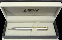 kuličkové pero  Harmonia - stříbrná-psací souprava Regal