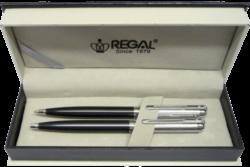 kuličkové pero + mikrotužka Harmonia - šedá-psací souprava Regal