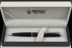 kuličkové pero William - černá-psací souprava Regal