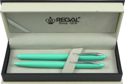kuličkové pero + inkoustové pero Alice - mátová-psací souprava Regal
