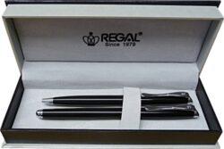 kuličkové pero + roller Arachne - černá-psací souprava Regal