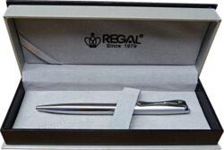 kuličkové pero  Arachne - stříbrná-psací souprava Regal