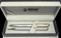 kuličkové pero + roller Harmonia - stříbrná-psací souprava Regal