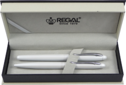 kuličkové pero + roller Alice - bílá-psací souprava Regal