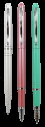 kuličkové pero + roller Alice - bílá(8594033824587)