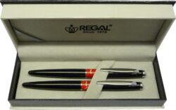 kuličkové pero + inkoustové pero Mercurius - černá-psací souprava Regal