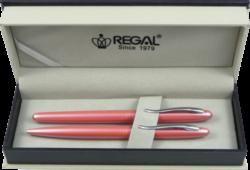 kuličkové pero + roller Alice - růžová-psací souprava Regal