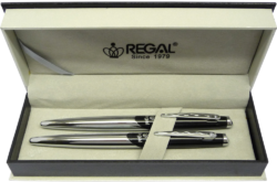 kuličkové pero + roller Themis - černá-psací souprava Regal