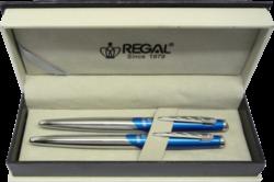 kuličkové pero + roller Themis - modrá-psací souprava Regal