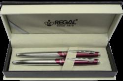 kuličkové pero + inkoustové pero Themis - červená-psací souprava Regal